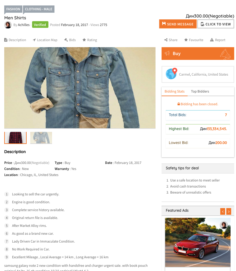 Adforest classfieds theme review - good! - SiteCozy
